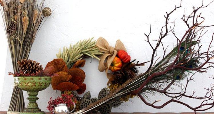 El follaje es la opción perfecta para para una decoración otoñal.