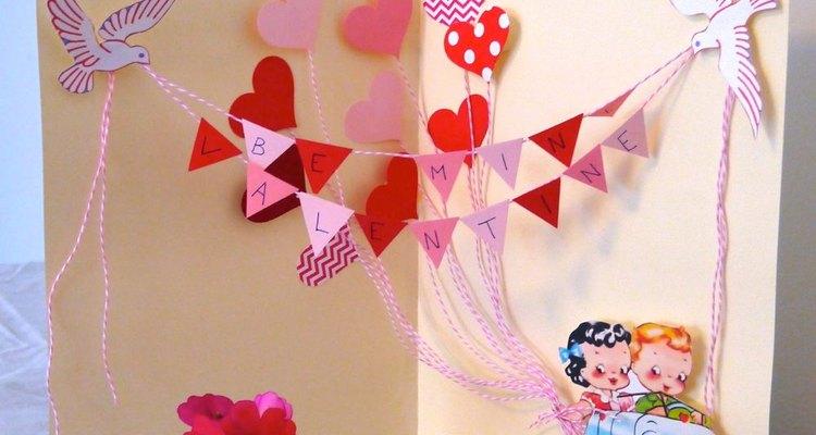 Não é difícil fazer um cartão de Dia dos Namorados em 3D