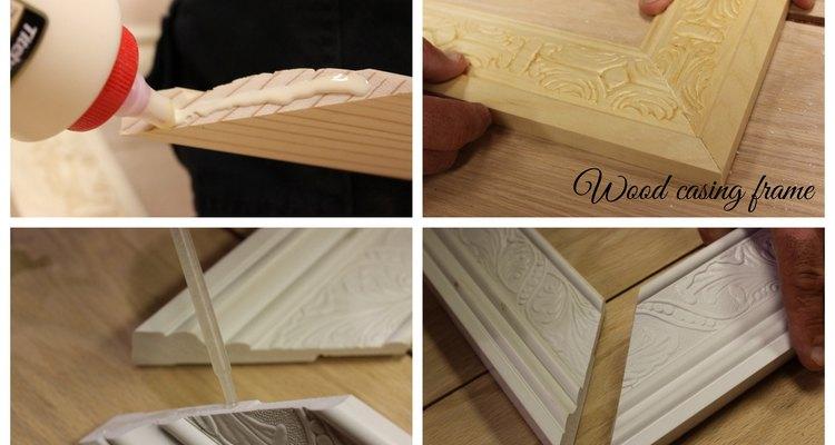 Usa un pegamento para madera o uno epoxi para ajustar el marco.