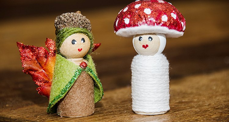 Puedes hacer estas muñecas de hadas del bosque en menos de una hora.