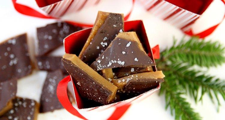 Caramelo de chocolate e sal marinho
