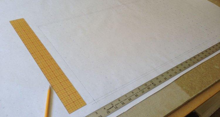 El molde de papel para tu almohadón.