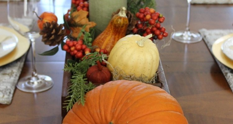 Una decoración fácil para la mesa de Acción de Gracias.