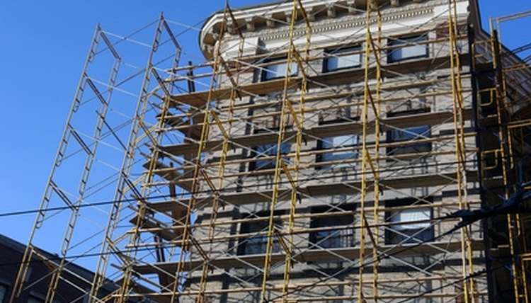 Support or frame construction scaffolding