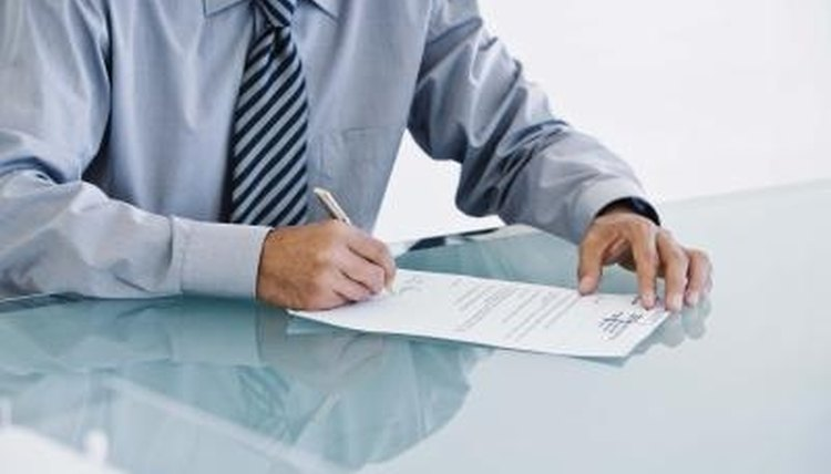 Some documents require a notarized signature.