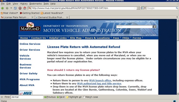 Maryland's License Return Instructions