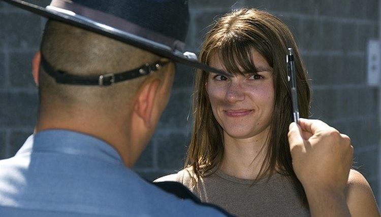 An officer, a field sobriety test