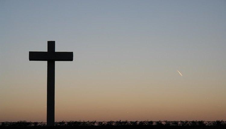 Cross at nightfall