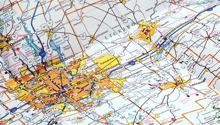 A road map provides the basis for a road trip project.