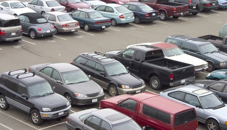 Accidents are common in parking lots.
