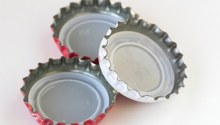 Bottle caps can help create an interesting clinking instrument.
