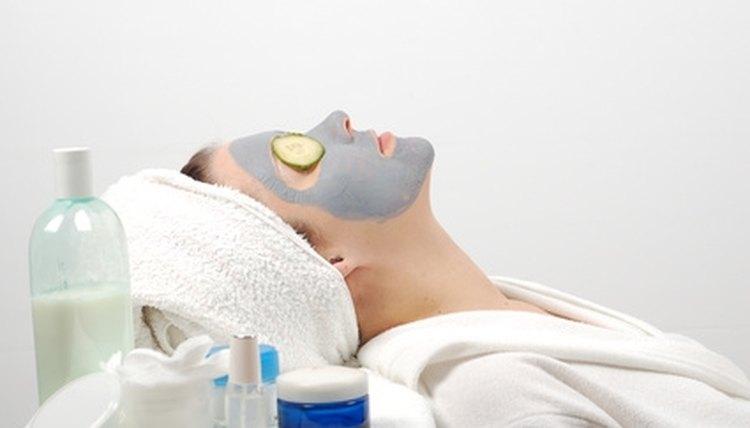 Estheticians study skin care.
