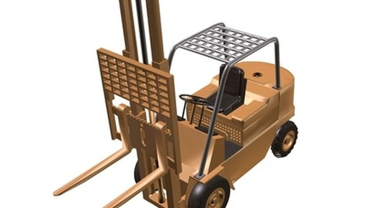 Forklifts are designed for heavy lifting.