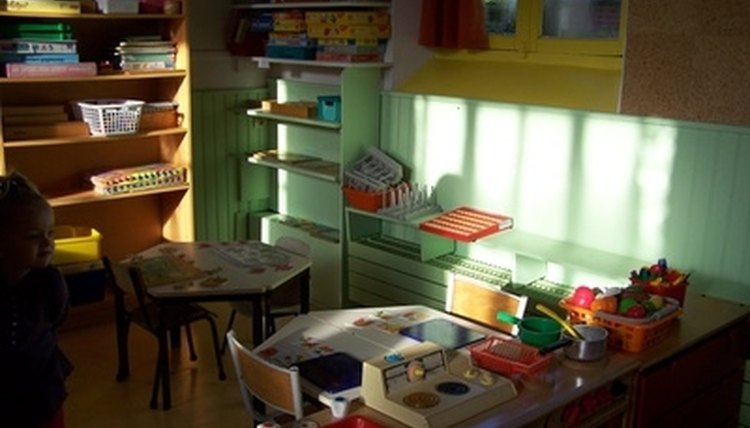 A HighScope-oriented classroom contains a variety of materials for children to explore.
