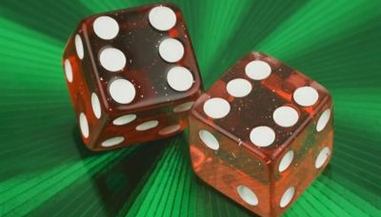 A pair of dice are all you need for a quick subtraction game.