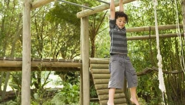 A playground can teach children about force and motion.