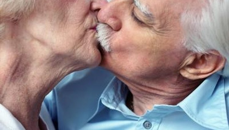 Learning how to kiss while wearing dentures may take a little practice.