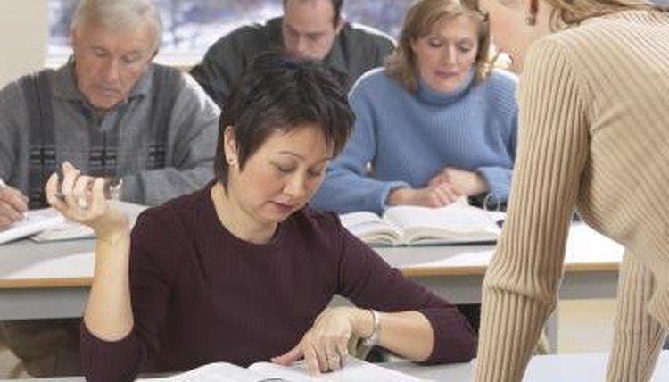 Many adults who have recently immigrated to the United States attend classes to learn English as a second language.