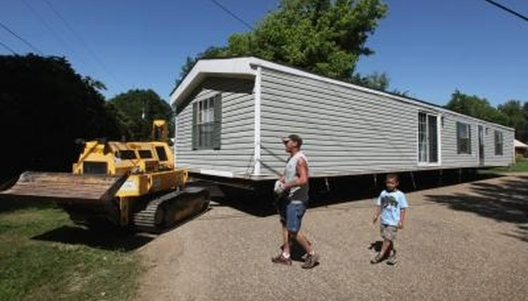 Bigger mobile homes require special transport.