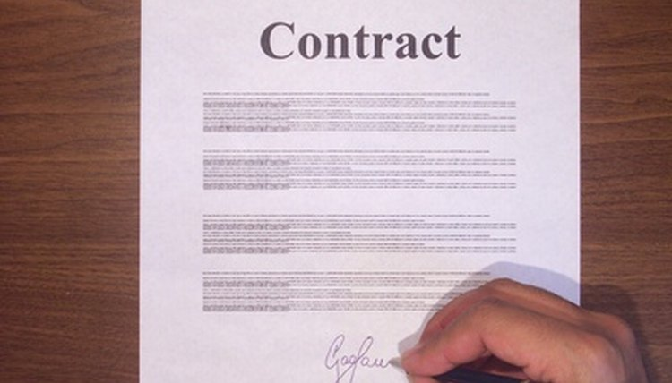 A contract may contain the right to cancel.
