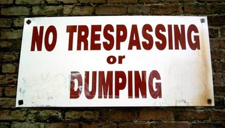 """A """"No Trespassing"""" sign serves as notice under Massachusetts law."""