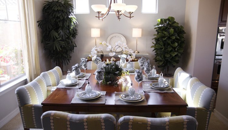 Learn the correct way to set a table in an etiquette class.