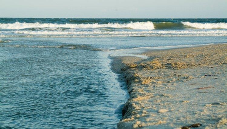 North Carolina's east borders the Atlantic Ocean.