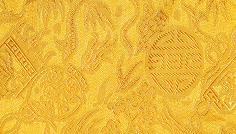 Yellow damask was reserved for royalty by the emperors of China.