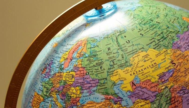 Closeup of a globe.
