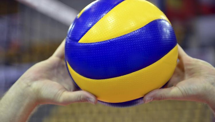 Close-up of a volleyball