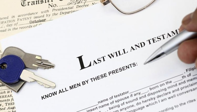 Last Will And Testament With Keys