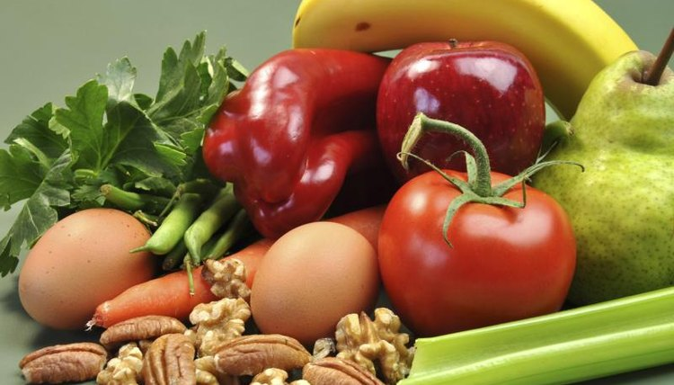 Group of healthy nutritional options