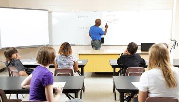 An image of an algebra class.