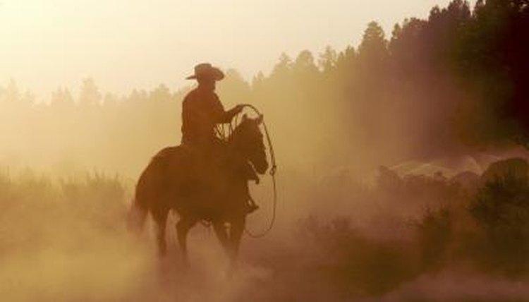 Cowboy silhouette.