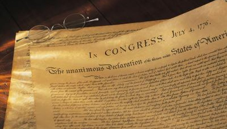 The preamble to the Declaration of Independence is an example of contract recitals.