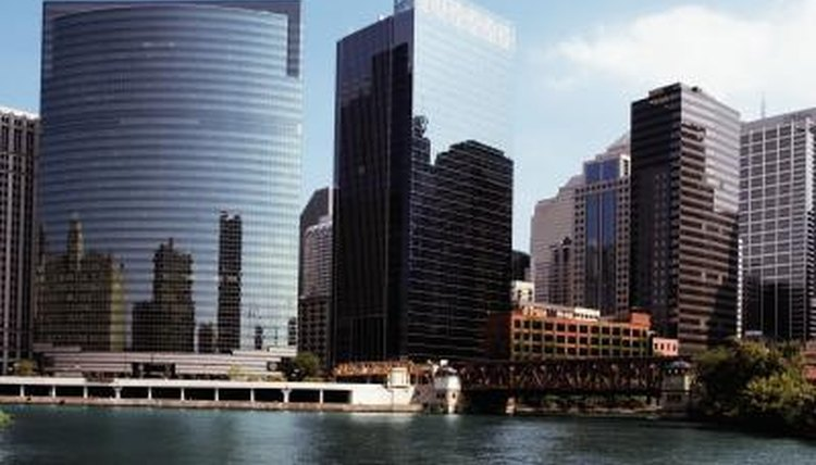 Buildings running along Chicago waterfront