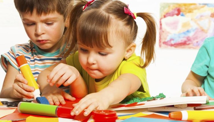 Let the children try out some preschool activities.