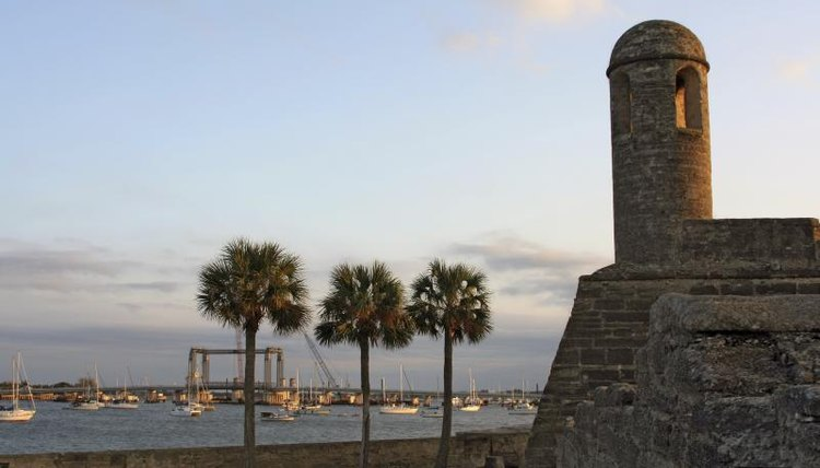 Coastline of St. Augustine, Florida.