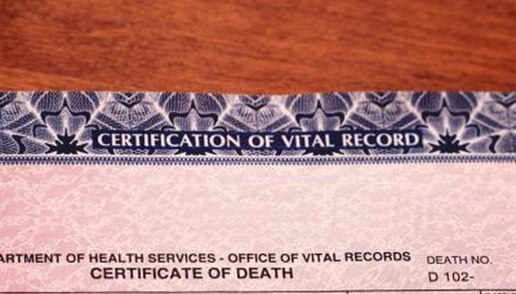 Amendments to death certificates usually involve forms and processing fees.