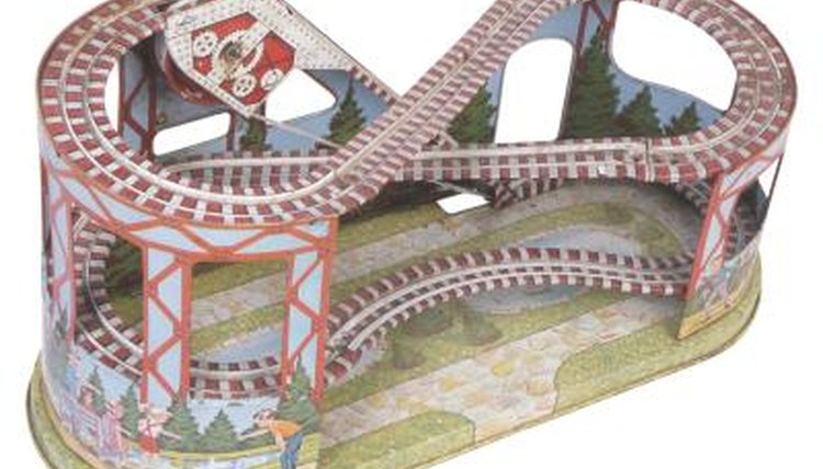 Recreate the roller coaster experience with a roller coaster model.