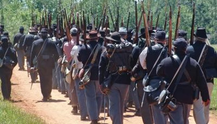 Marching was the most frequent and conventional form of transportation during the Civil War.