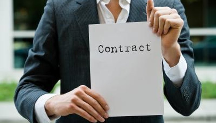 Agency relationships are often spelled out in contract.