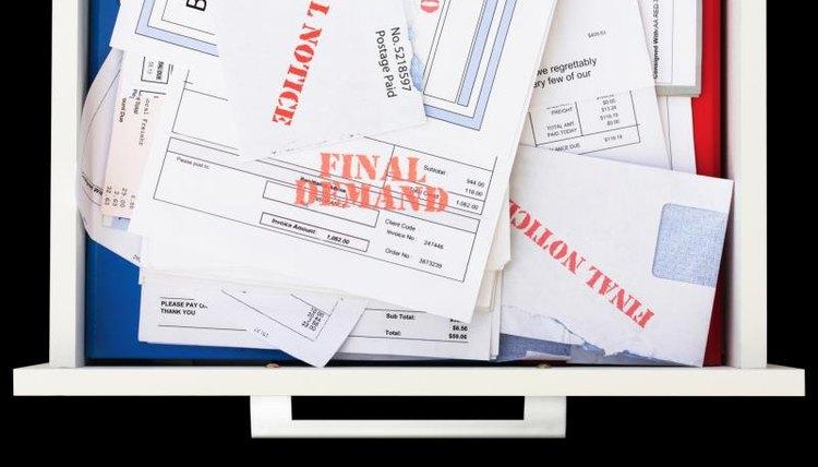 Drawer of final notice bills