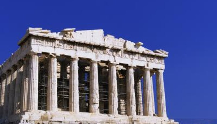 Ancient Greek architecture utilized many types of marble and limestone.