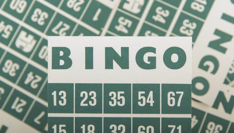 Close-up of bingo cards.