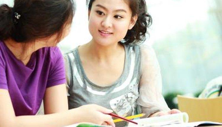 Women studying english
