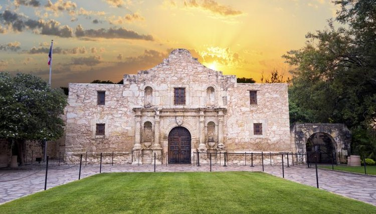The Alamo during sunset