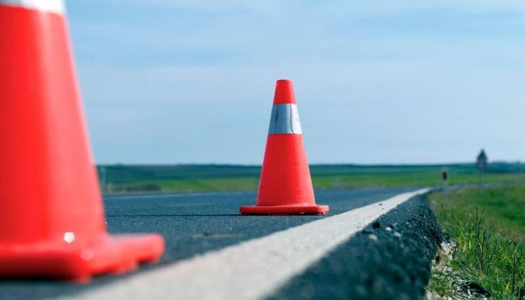 Traffic Cone Requirements | Legalbeagle.com Traffic Cone On Road