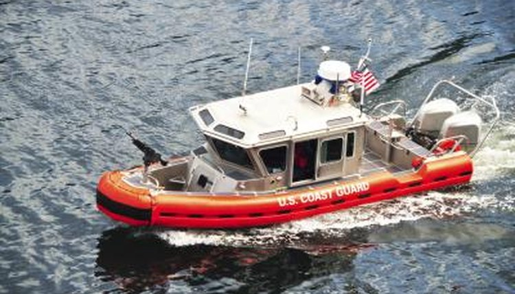 U.S. Coast Guard boat on water.