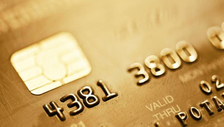 Close up of a credit card